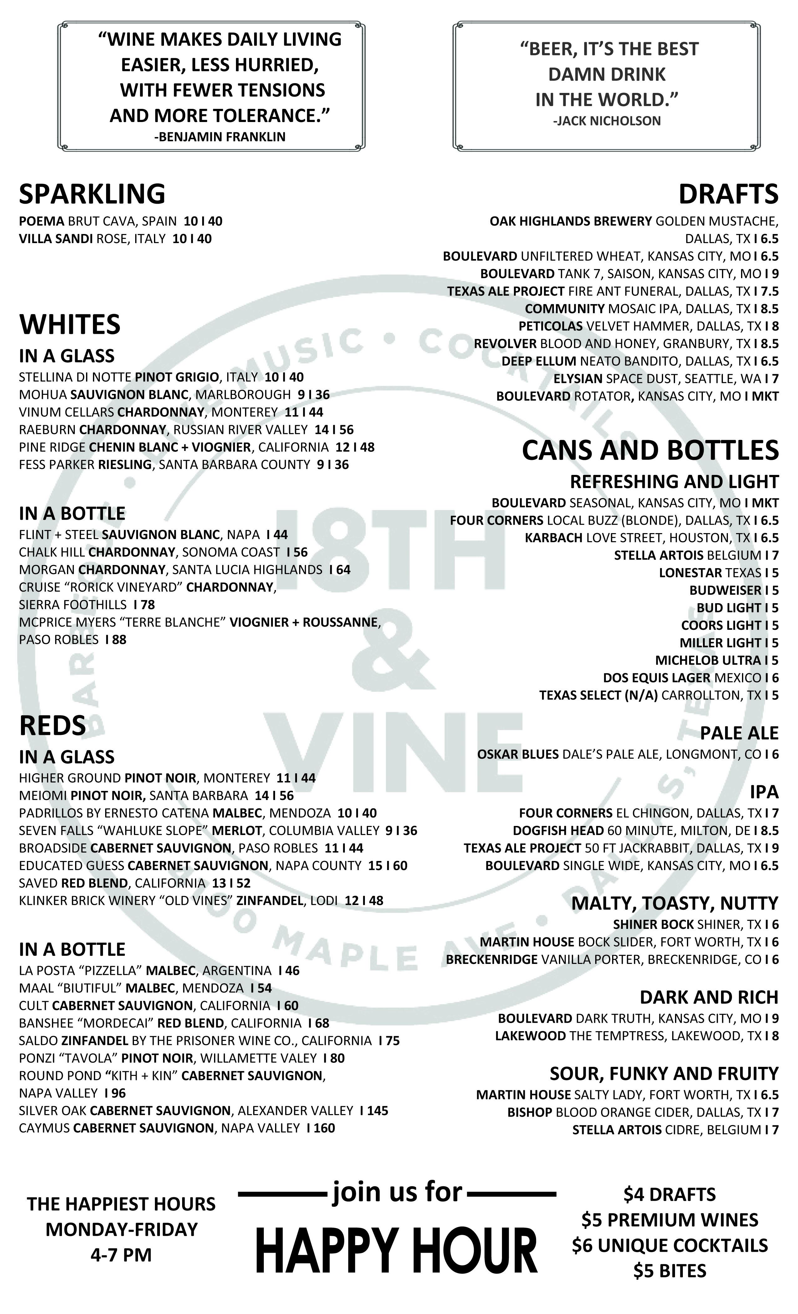 Menus – 18th and Vine BBQ